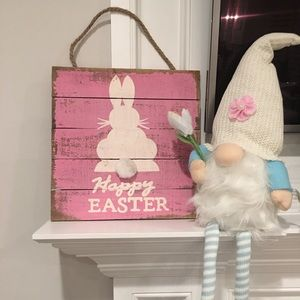 Easter bunny  sign & Gnome bundle!🐣🥕🐰🌺